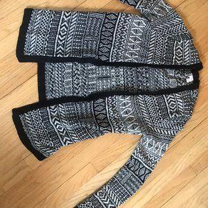 Merona Knit Black and White Cardigan